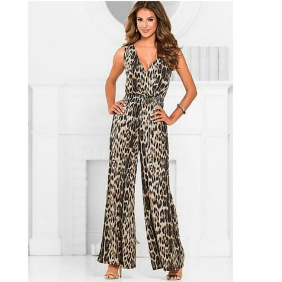 Sexy leopard jumpsuit